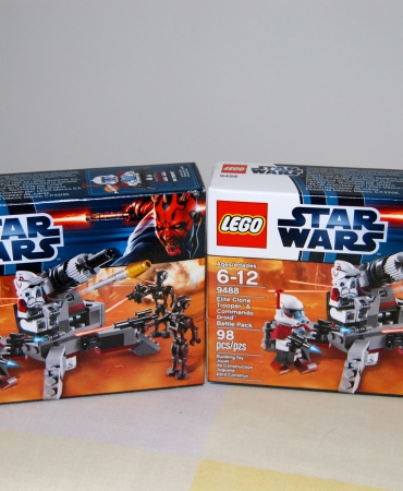 Star Wars Elite Clone Trooper and Commando Droid B 9488, 2 SETS, Lego, Retired, New in Sealed Box