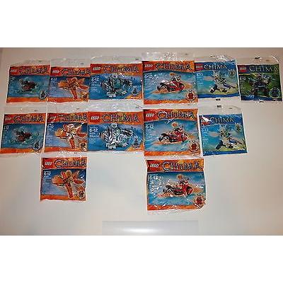 Lego Legends of Chima 13 Polybag Lot: Skyor, Ewar, Iceklaw, Gorzan, Frax, Worriz