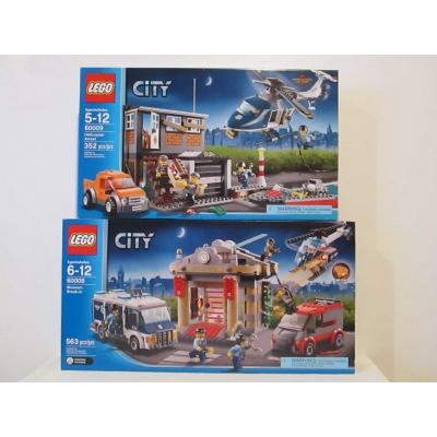 Lego City two set lot of 60008 Museum Break In & 60009 Helicopter Arrest