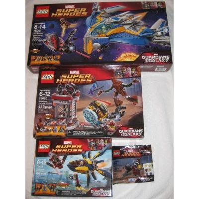 76019, 76020, 76021, 5002145 - Guardians of the Galaxy Bundle + Rare Rocket Raccoon Minifigure