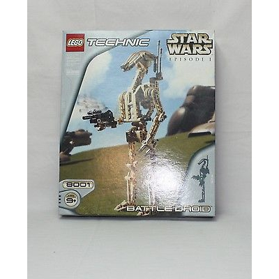 New Lego Star Wars Technic 8001 Battle Droid from 2000 SEALED