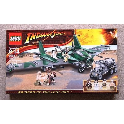New Lego Indiana Jones Raiders of the Lost Ark Fight on the Flying Wing Set 7683