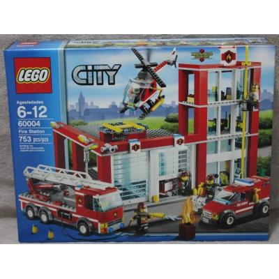 LEGO 60004 FIRE STATION CITY NEW SEALED NISB 753 PIECES RETIRED