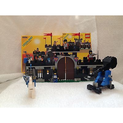Vintage LEGO Castle Set 6059 Black Knight's Strong Hold w/BOX & MANUAL