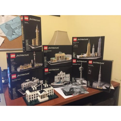 LEGO Architecture Lot - 21006, 21027, 21013, 21011, 21020, 21028, 21031, 21003