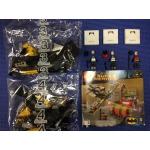 Batplane with minifigures (Batman, Batgirl, and Robin) - from new set 76013 Joker Sream Roller