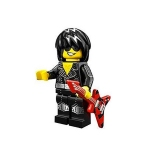 Lego Minifigure:  Rock Star (Series 12)