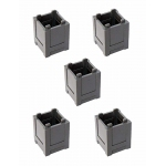 Lego Parts:  Grey Container, set of 5