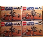 4 X LEGO Star Wars Clone Walker Battle Packs 8014 16x Minifigures New And Sealed