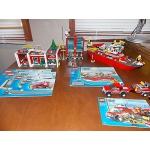 Lego City Fire Station 7207 Boat 7207 Truck 7942 set lot EUC