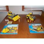 Lego City construction 7746 Single Drum Roller 7685 Dozer EUC