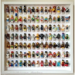 Lego Frame, Large WHITE Display Case for Lego Minifigures. Holds 105 Minifigs