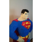 LEGO Superman Classic Life-size Statue, more than 17.300 LEGO bricks are used
