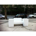 Leg-go Bench made from Dupont White Corian