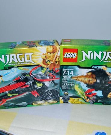 Ninjago Warrior Bike 70501 and Ninjago Cole Earth Driller 70502, Lego New in Sealed Box
