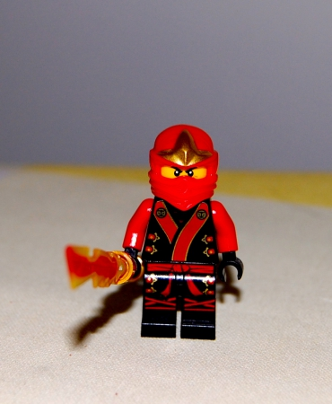 Kai Minifigure Final Battle Suit, Includes Double-Edged Fire Blade, Loose, New Lego, Ninjago 2013