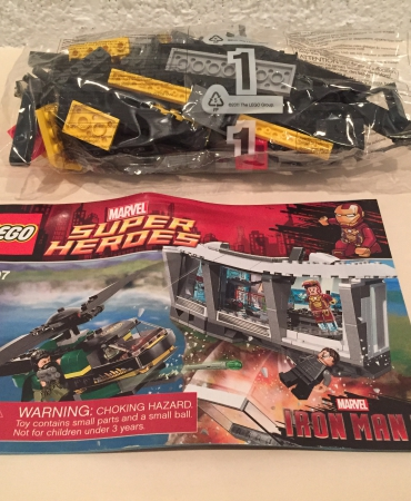 Lego 76007 Marvel Super Heroes Iron Man Malibu Mansion Attack HELICOPTER ONLY