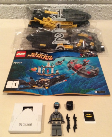 Lego 76027 DC Comics Super Heroes Black Manta Deep Sea Strike BATMAN MINIFIGURE AND BAT SUB ONLY