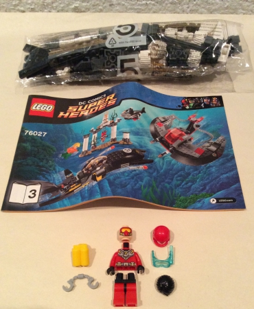 Lego 76027 DC Comics Super Heroes Black Manta Deep Sea Strike ROBIN MINIFIGURE AND SCENE ONLY