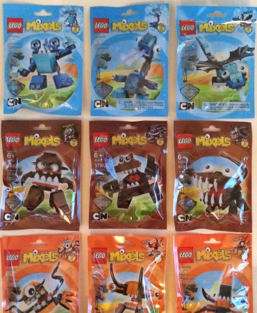 Lego Series 2 Mixels Full Set - Blue, Brown & Orange - NISB