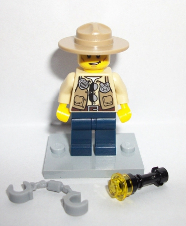 Lego City Swamp Police Ranger Sheriff Figure Minfig