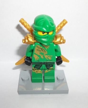 Lego Ninjago Gold/Green Ninja Lloyd Promo Exclusive Minifig Figure