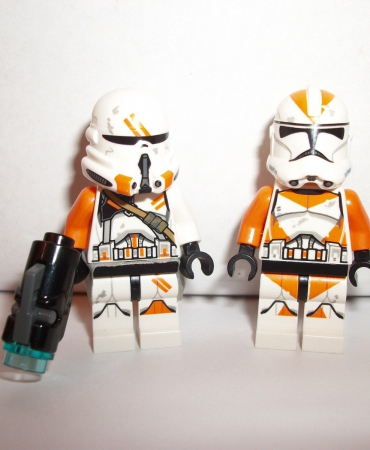 Lego lot of 2 Clone Troopers Utapau Orange Minifigs Figures