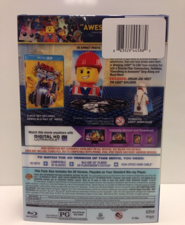 NEW - The LEGO MOVIE DVD Everything is Awesome Edition 3D BLU-RAY + DVD + UV + Vitruvius Minifigure