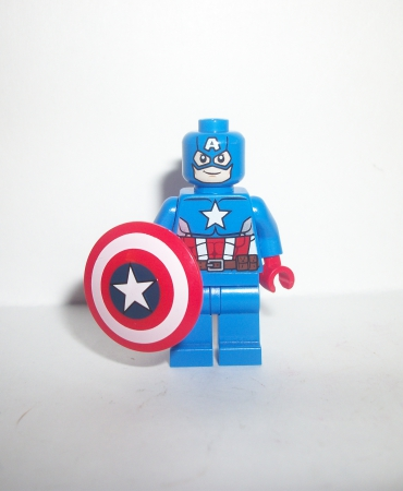 Lego Marvel Super Heroes Captain America Figure Minifigure w Shield