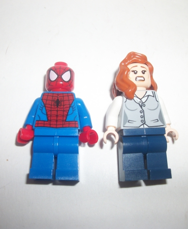 Lego Super Heroes Marvel Spider-Man + Girl 2 Figure Lot Minifigure