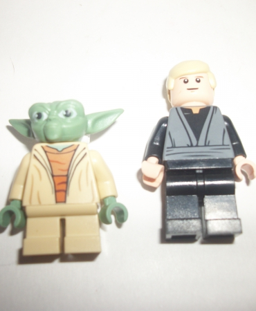 Lego Star Wars yoda +Luke Lot of 2 Minifigures
