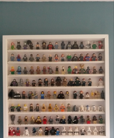 Lego Minifigure Display Frame - Holds 120+ Figs