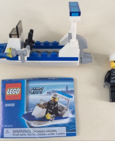 Lego 30002 Police Boat Polybag USED 100% COMPLETE