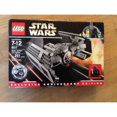 Lego Star Wars Exclusive 10 Year Anniversary Darth Vaders TIE Fighter 8017