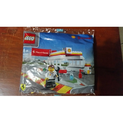 Lego Promotion Ferrari 40195-1: Shell Station RARE Asia exclusive retired polybag