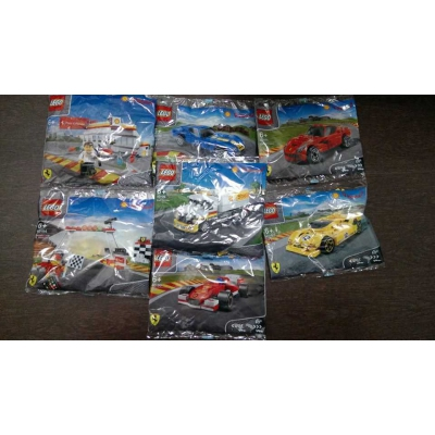 COMPLETE set of 7 Lego Shell V-Power Promotion Ferrari 40190-40196 RARE retired Asia exclusive