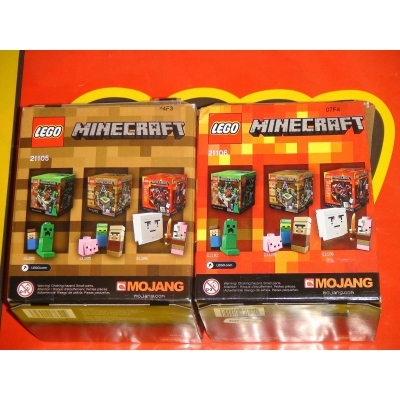 LEGO Minecraft The Nether & The Village Micro World 21105 21106 BOX NOT MINT