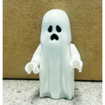 Lego Ghost Minifigure from 10228 - great accessory for Ghostbusters Ecto 21108