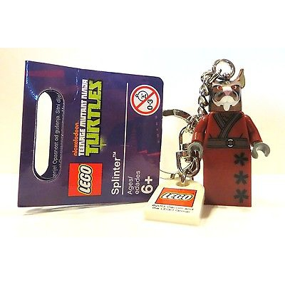 LEGO TMNT TEENAGE MUTANT NINJA TURTLES MINIFIGURE KEYCHAIN 850838 SPLINTER NEW