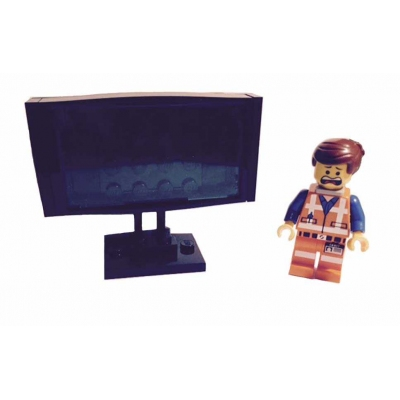 Lego Custom Build - Flat Screen Television (No Minifig included)