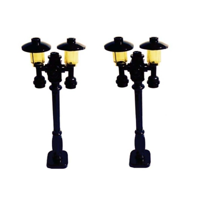 Lego Custom Build Street Lamps / Lamp Posts, Victorian Style, Set of 2