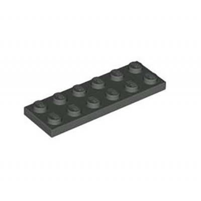 Lego 2x6 Plates * 50, Dark Grey