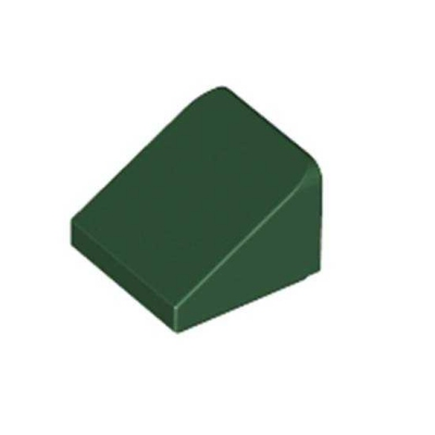 Roof Tile 1X1X2/3, Dark Green, 50 Count