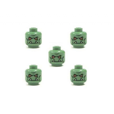 Lego Minifig Heads - Alien, 5 count