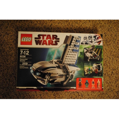 Lego Star Wars Separatist Shuttle 8036 - BRAND NEW, FACTORY SEALED, RETIRED, NEAR-MINT CONDITION