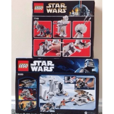 LEGO Star Wars 7759 & 8089 Empire Strikes Back Lot Echo Base & Hoth Wampa Cave