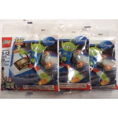 Lot Of 3 Lego 30070 Toy Story Alien LGM And Spaceship