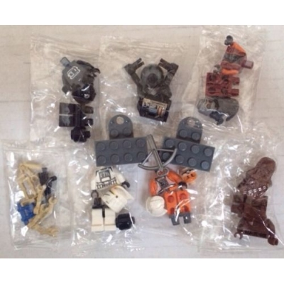 Lego Star Wars 7x Minifigures And 2x Magnets Minifigs Sealed