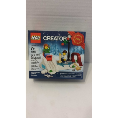 40106 ELF TOY WORKSHOP & 40107 WINTER SKATING SCENE HOLIDAY SETS - MISB