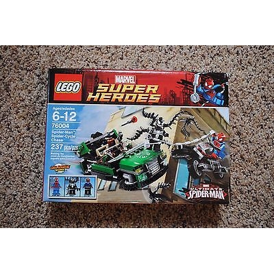 Marvel Super Heroes Spider-Man Spider-Cycle Chase 76004 - NEW, SEALED, RETIRED, NEAR-MINT